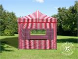 Pop up gazebo FleXtents PRO 3x6 m Striped, incl. 6 sidewalls - 3