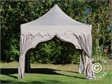 "Foldetelt FleXtents PRO ""Raj"" 3x3m Latte/Orange - 2"