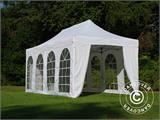 Visitor tent FleXtents Steel 3x6 m White, incl. 4 sidewalls and 1 transparent partition wall - 6