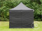 Vouwtent/Easy up tent FleXtents Steel 3x3m Zwart, inkl. 4 zijwanden - 1