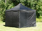 Pop up gazebo FleXtents Steel 3x3 m Black, incl. 4 sidewalls - 2