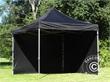 Vouwtent/Easy up tent FleXtents Steel 3x3m Zwart, inkl. 4 zijwanden - 8