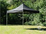 Vouwtent/Easy up tent FleXtents Steel 3x3m Zwart, inkl. 4 zijwanden - 10