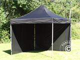 Vouwtent/Easy up tent FleXtents Steel 3x3m Zwart, inkl. 4 zijwanden - 11