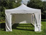 Vouwtent/Easy up tent FleXtents Steel 4x6m Wit, inkl. 4 Zijwanden - 4
