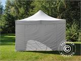Vouwtent/Easy up tent FleXtents Steel 4x6m Wit, inkl. 4 Zijwanden - 7