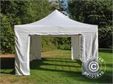 Vouwtent/Easy up tent FleXtents Steel 4x6m Wit, inkl. 4 Zijwanden - 8