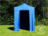 Pop up gazebo FleXtents Basic v.2, 2x2 m Blue, incl. 4 sidewalls - 1