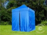 Pop up gazebo FleXtents Basic v.2, 2x2 m Blue, incl. 4 sidewalls - 5