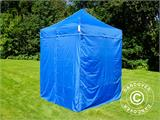 Pop up gazebo FleXtents Basic v.2, 2x2 m Blue, incl. 4 sidewalls - 6