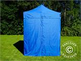 Pop up gazebo FleXtents Basic v.2, 2x2 m Blue, incl. 4 sidewalls - 7