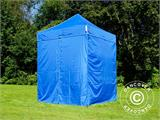 Pop up gazebo FleXtents Basic v.2, 2x2 m Blue, incl. 4 sidewalls - 9