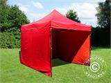 Pop up gazebo FleXtents Basic v.2, 3x3 m Red, incl. 4 sidewalls - 1