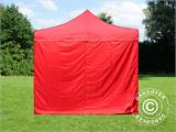 Pop up gazebo FleXtents Basic v.2, 3x3 m Red, incl. 4 sidewalls - 2