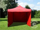 Pop up gazebo FleXtents Basic v.2, 3x3 m Red, incl. 4 sidewalls - 4