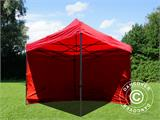 Pop up gazebo FleXtents Basic v.2, 3x3 m Red, incl. 4 sidewalls - 6