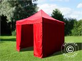 Pop up gazebo FleXtents Basic v.2, 3x3 m Red, incl. 4 sidewalls - 8