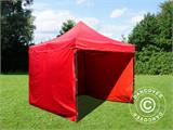 Pop up gazebo FleXtents Basic v.2, 3x3 m Red, incl. 4 sidewalls - 9