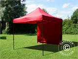 Pop up gazebo FleXtents Basic v.2, 3x3 m Red, incl. 4 sidewalls - 14