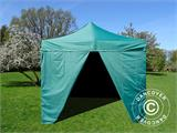 Pop up gazebo FleXtents Basic v.2, 3x3 m Green, incl. 4 sidewalls - 2