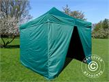 Pop up gazebo FleXtents Basic v.2, 3x3 m Green, incl. 4 sidewalls - 3