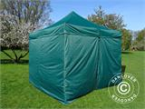 Pop up gazebo FleXtents Basic v.2, 3x3 m Green, incl. 4 sidewalls - 4