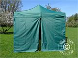 Pop up gazebo FleXtents Basic v.2, 3x3 m Green, incl. 4 sidewalls - 5