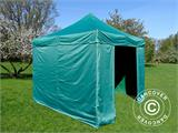 Pop up gazebo FleXtents Basic v.2, 3x3 m Green, incl. 4 sidewalls - 6