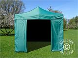 Pop up gazebo FleXtents Basic v.2, 3x3 m Green, incl. 4 sidewalls - 7