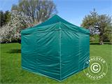 Pop up gazebo FleXtents Basic v.2, 3x3 m Green, incl. 4 sidewalls - 8