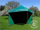 Pop up gazebo FleXtents Basic v.2, 3x3 m Green, incl. 4 sidewalls - 9
