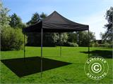 Pop up gazebo FleXtents Basic v.2, 3x3 m Black, incl. 4 sidewalls - 4
