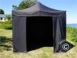 Pop up gazebo FleXtents Basic v.2, 3x3 m Black, incl. 4 sidewalls - 6