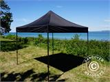 Pop up gazebo FleXtents Basic v.2, 3x3 m Black, incl. 4 sidewalls - 12