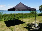Pop up gazebo FleXtents Basic v.2, 3x3 m Black, incl. 4 sidewalls - 13