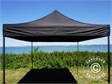 Pop up gazebo FleXtents Basic v.2, 3x3 m Black, incl. 4 sidewalls - 14
