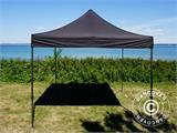 Pop up gazebo FleXtents Basic v.2, 3x3 m Black, incl. 4 sidewalls - 18