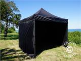 Pop up gazebo FleXtents Basic v.2, 3x3 m Black, incl. 4 sidewalls - 23