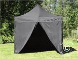 Pop up gazebo FleXtents Basic v.2, 3x3 m Black, incl. 4 sidewalls - 30