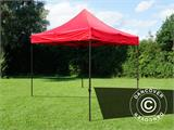 Tente pliante FleXtents Basic v.2, 3x3m Rouge - 3