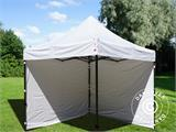Vouwtent/Easy up tent FleXtents Basic v.3, 3x3m Wit, inkl. 4 Zijwanden - 7