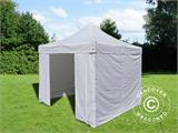 Vouwtent/Easy up tent FleXtents Basic v.3, 3x3m Wit, inkl. 4 Zijwanden - 16