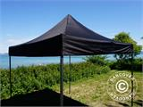 Tenda Dobrável FleXtents Basic v.3, 3x3m Preto, incl. 4 paredes laterais - 20