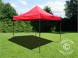 Vouwtent/Easy up tent FleXtents Basic v.2, 4x4m Rood - 1