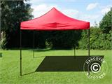 Vouwtent/Easy up tent FleXtents Basic v.2, 4x4m Rood - 3