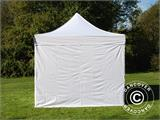 Vouwtent/Easy up tent FleXtents Basic v.2, 4x4m Wit, inkl. 4 Zijwanden - 1