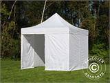 Vouwtent/Easy up tent FleXtents Basic v.2, 4x4m Wit, inkl. 4 Zijwanden - 3