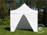 Vouwtent/Easy up tent FleXtents Basic v.2, 4x4m Wit, inkl. 4 Zijwanden - 4