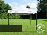 Vouwtent/Easy up tent FleXtents Basic v.2, 4x4m Wit, inkl. 4 Zijwanden - 7
