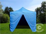 Pop up gazebo FleXtents Basic v.2, 4x4 m Blue, incl. 4 sidewalls - 1